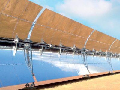csp solar power parabolic trough mirrors